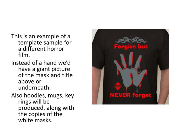 This is an example of a template sample for a different horror film.