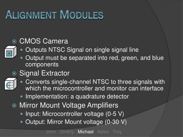 Alignment Modules