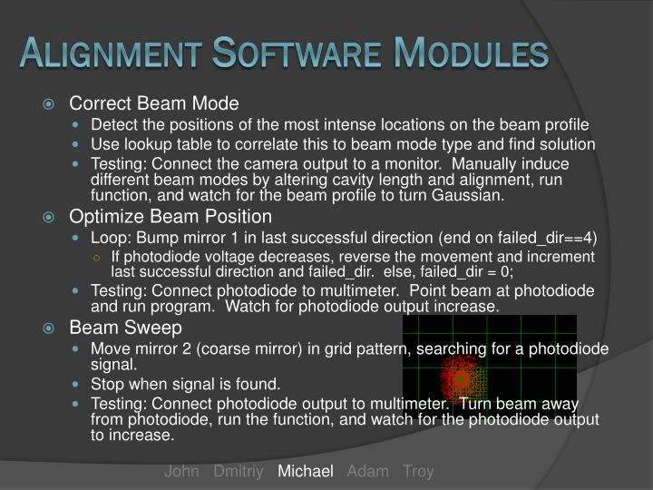 Alignment Software Modules