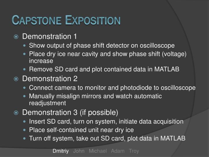 Capstone Exposition