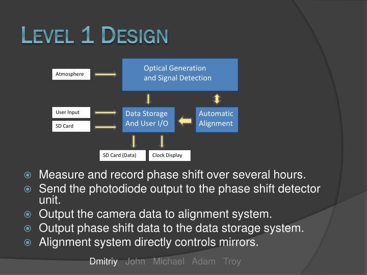 Level 1 Design
