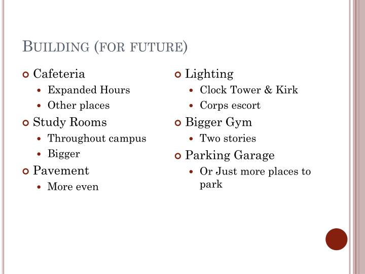 Building (for future)