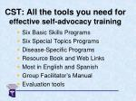 cst all the tools you need for effective self advocacy training