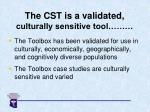 the cst is a validated culturally sensitive tool