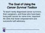 the goal of using the cancer survival toolbox