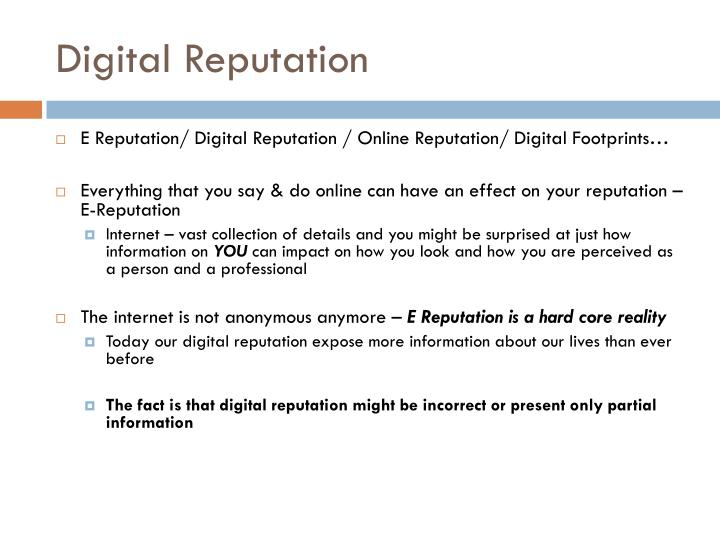 Digital reputation