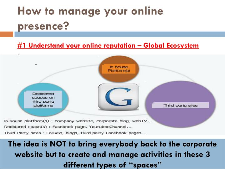 How to manage your online presence?