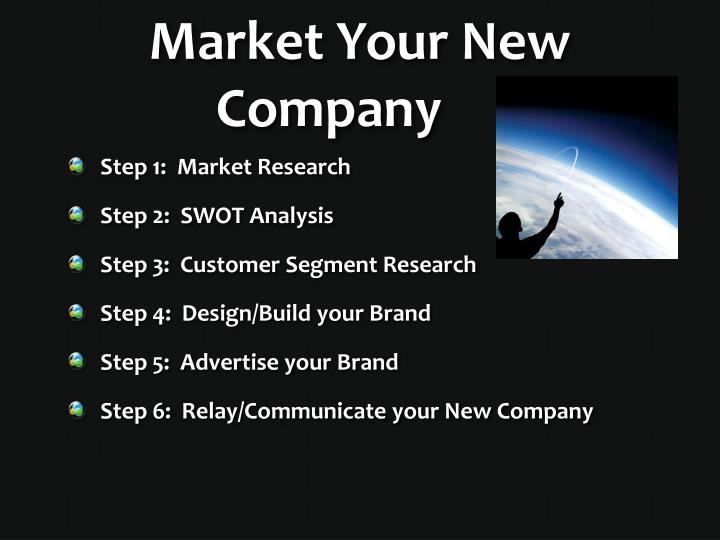 Market Your New Company