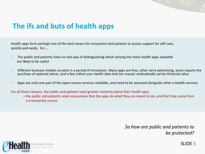 The ifs and buts of health apps