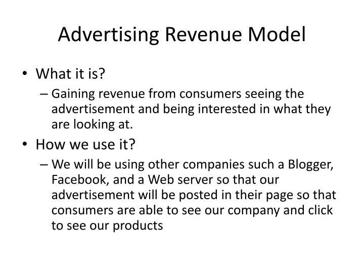 Advertising Revenue Model