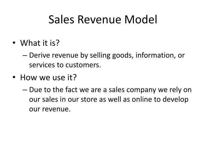 Sales Revenue Model