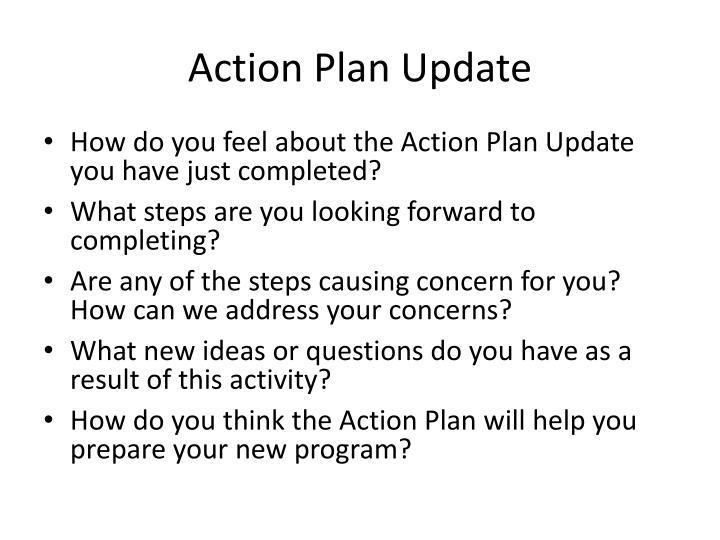 Action Plan Update