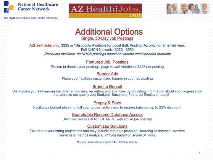 Additional Options