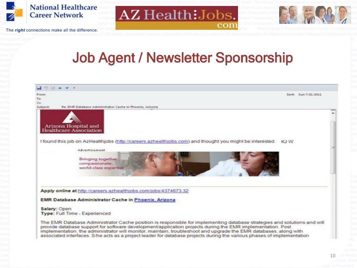 Job Agent / Newsletter Sponsorship