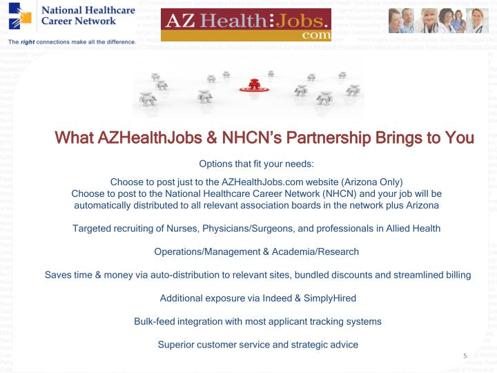 What AZHealthJobs & NHCN's Partnership Brings to You