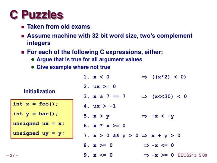 C Puzzles