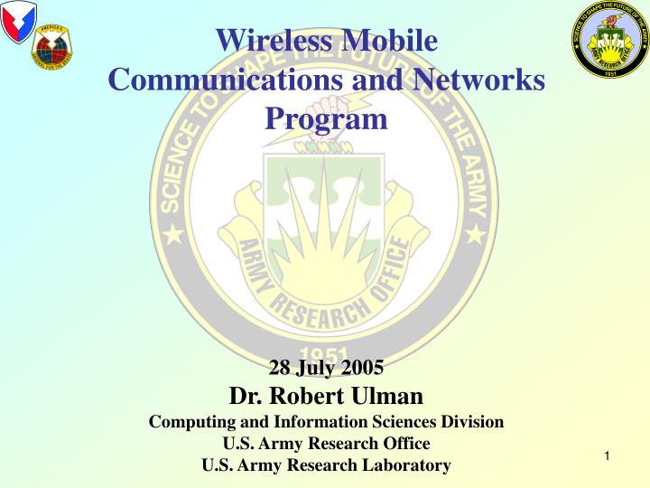 Wireless Mobile Communications and Networks