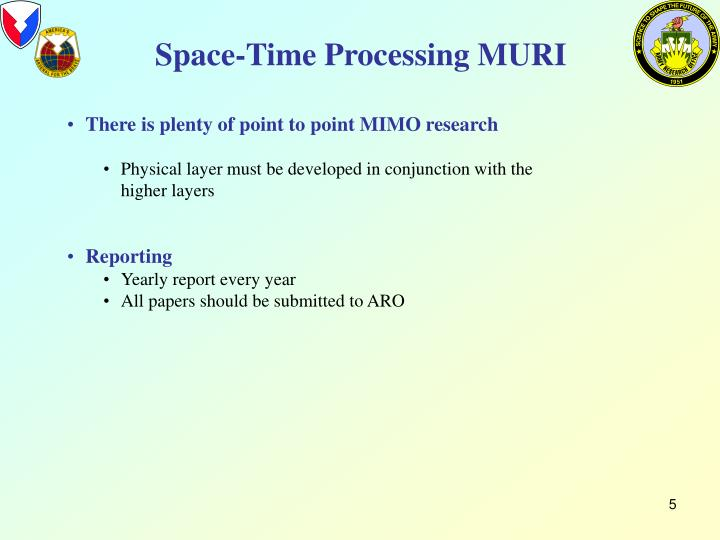 Space-Time Processing MURI