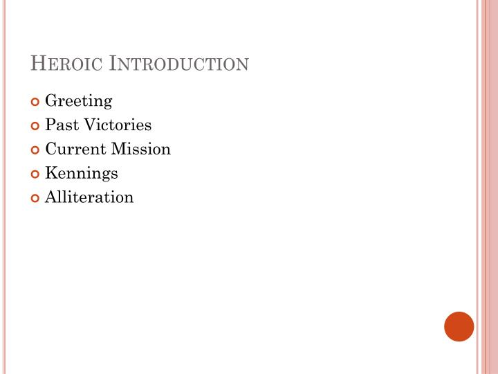 Heroic Introduction