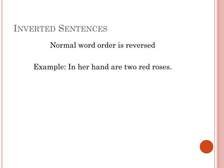 Inverted Sentences
