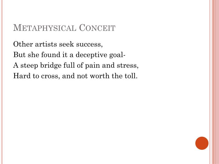 Metaphysical Conceit