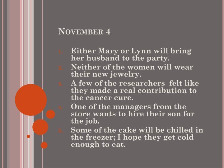 November 4