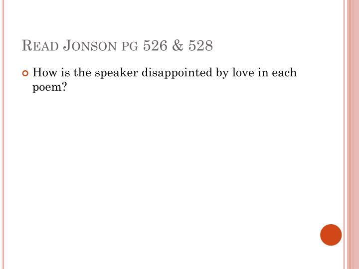 Read Jonson pg 526 & 528