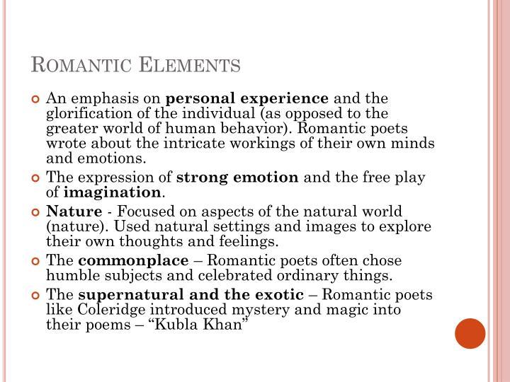 Romantic Elements