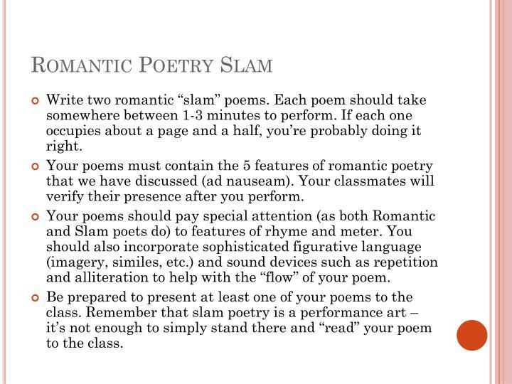 Romantic Poetry Slam