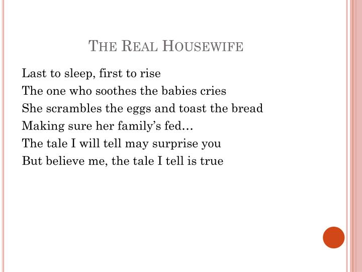 The Real Housewife