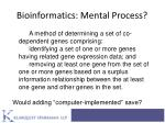 bioinformatics mental process