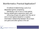 bioinformatics practical application