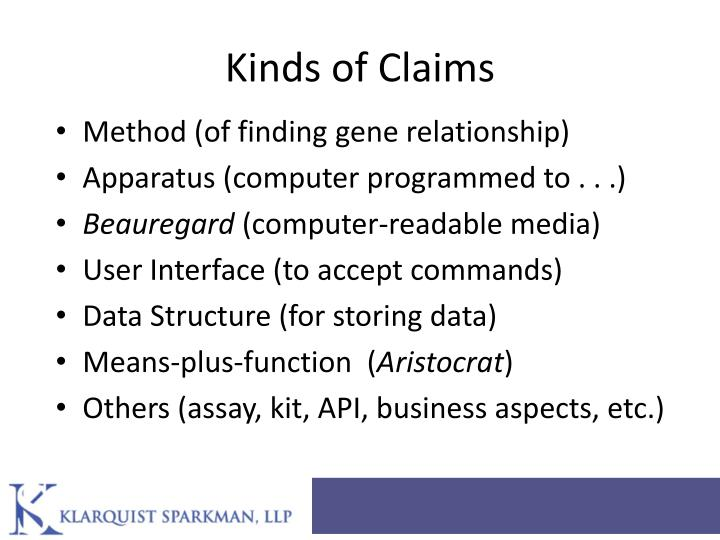 Kinds of Claims