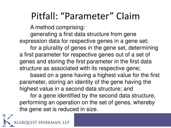 "Pitfall: ""Parameter"" Claim"