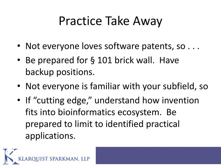 Practice Take Away