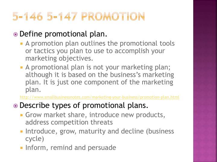 5-146 5-147 Promotion