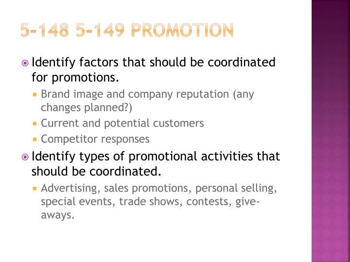5-148 5-149 Promotion