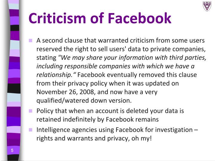 Criticism of