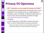 privacy vs openness