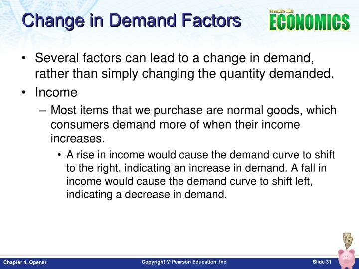 Change in Demand Factors