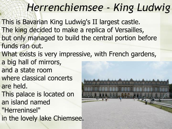 Herrenchiemsee - King Ludwig