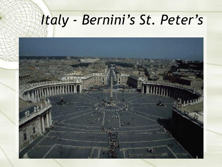 Italy - Bernini's St. Peter's