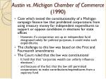 austin vs michigan chamber of commerce 1990