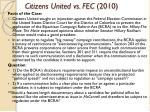 citizens united vs fec 2010