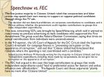 speechnow vs fec