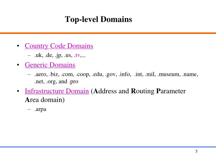 Top-level Domains