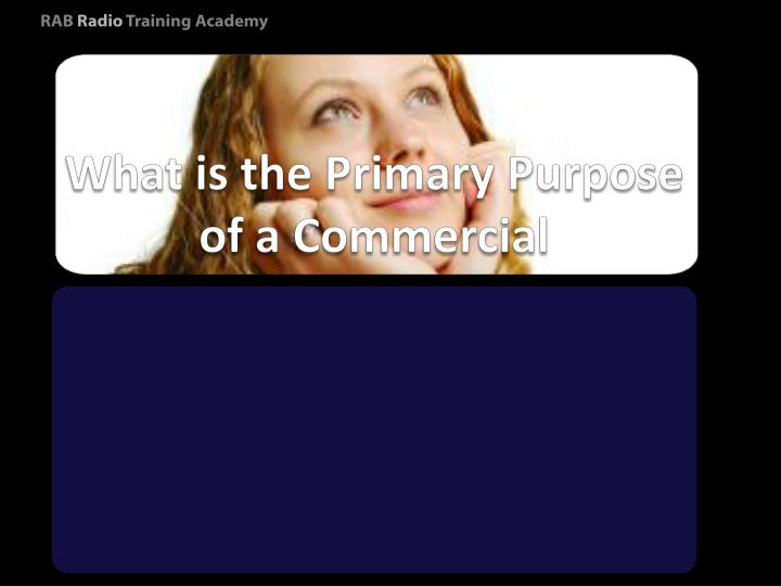 What is the Primary Purpose