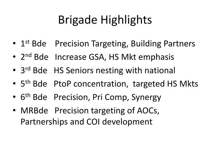 Brigade Highlights