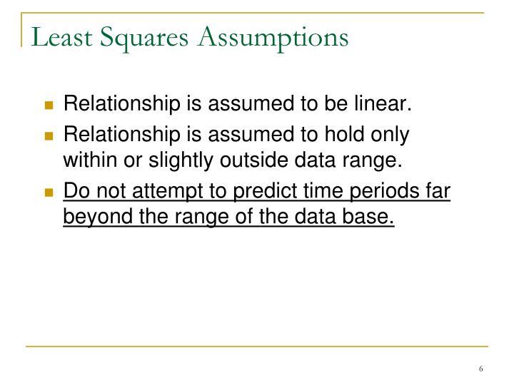 Least Squares Assumptions