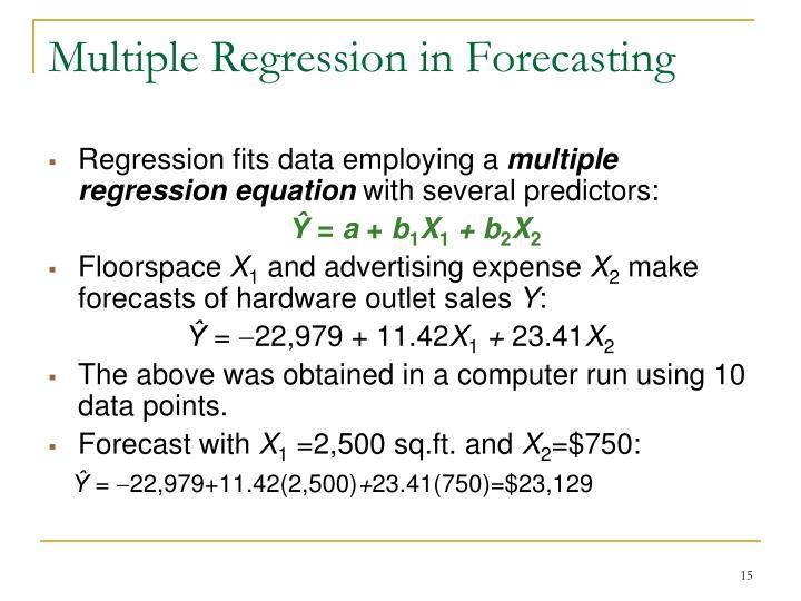 Multiple Regression in Forecasting